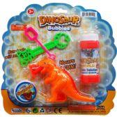 72 Units of 5 Inch Dinosaur Bubble Play Set
