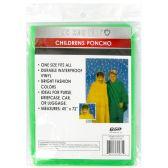 72 Units of CHILDRENS PONCHO - Umbrellas & Rain Gear