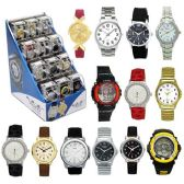 24 Units of 24 PC WATCH WITH 12 PC DISPLAY ASSORTED COLOR AND STYLE