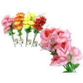 144 Units of Flo 7 Head Rose W/Silk 4asst