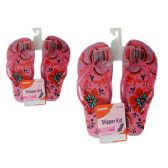 72 Units of Slipper For Girl 6asst Color size 6-10