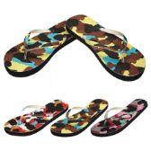 48 Units of Ladies Flip Flaps--Camo - Women's Flip Flops