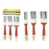 "96 Units of Paint Brushes 3pc /Set 1,1.5,2"" - Paint and Supplies"