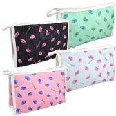 48 Units of Cosmetic Bag Assorted Colors Large