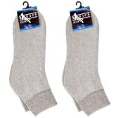 120 Units of DIABETIC ANKLE SOCKS GRAY 9-11 - Women's Diabetic Socks