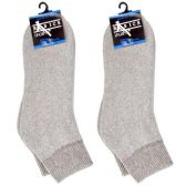 120 Units of DIABETIC ANKLE SOCKS GRAY 10-13 - Men's Diabetic Socks