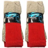 120 Units of 3 PAIR THERMAL SOCKS 10-13 GRAY SOX EXPRESS