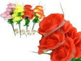 144 Units of 7 Head Rose Flower Bouque - Artificial Flowers