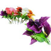 144 Units of Calla Lily Flower Bouquet, 7 Head - Artificial Flowers
