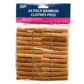 48 Units of Wood Clothes Pins 24ct - Clothes Pins