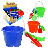 24 Units of 3 PIECE CASTLE SAND PLAYSETS. - Beach Toys