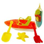 24 Units of 4 PIECE TOY BOAT SAND SETS - Beach Toys