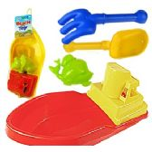 24 Units of 4 PIECE BOAT SAND PLAYSETS - Beach Toys
