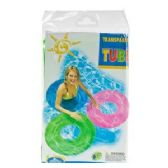 24 Units of INFLATABLE TRANSLUCENT SWIM RINGS. - Inflatables