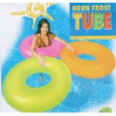 12 Units of FROSTED NEON SWIM RINGS - Inflatables