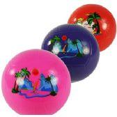 240 Units of INFLATABLE BEACH SCENE BALLS - Beach Toys