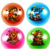 192 Units of ANIMAL INFLATABLE BALLS - Beach Toys
