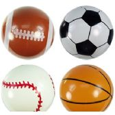 96 Units of INFLATABLE SPORTS BALLS - Beach Toys