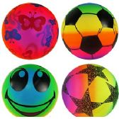 192 Units of COLORFUL INFLATABLE BALLS - Beach Toys
