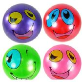 192 Units of INFLATABLE GOOFY FACE BALLS - Beach Toys