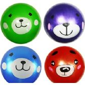 192 Units of SILLY ANIMAL INFLATABLE BALLS - Beach Toys