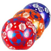 192 Units of INFLATABLE SOCCER THEME BOUNCE BALLS