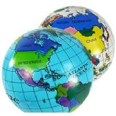 192 Units of INFLATABLE WORLD GLOBES - Inflatables