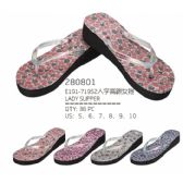 48 Units of Womans Printed Flop Assorted Colors - Women's Flip Flops