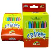 144 Units of PACK OF 24 CRAYONS 24 MULTI COLORS - CANDLE ACCESSORIES