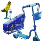 6 Units of BLUE 3-WHEEL KICK SCOOTER W/LIGHTS - Summer Toys