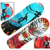 24 Units of WOODEN LONG BOARD SKATEBOARDS - Summer Toys