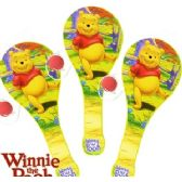 24 Units of DISNEY'S WINNIE THE POOH PADDLE BALLS - Summer Toys