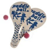 144 Units of WOODEN PADDLE BALL GAMES. - Dominoes & Chess