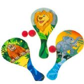 144 Units of JUNGLE PADDLE BALLS - Summer Toys