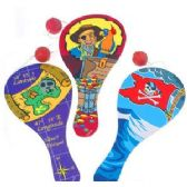 144 Units of PIRATE PADDLE BALLS - Summer Toys