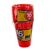 96 Units of Wholesale 16OZ 16PC RED PLASTIC CUPS