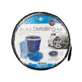 6 Units of Car Wash Kit with Collapsible Bucket - Auto Cleaning Supplies
