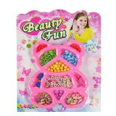 72 Units of BEAUTY FUN BEAR BEAD KITS