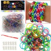 192 Units of GLITTER D.I.Y .LOOM BANDS - Craft Kits