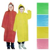 96 Units of Kid's Rain Poncho w/Hood