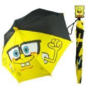 24 Units of SPONGEBOB SQUAREPANTS UMBRELLAS - Umbrellas & Rain Gear
