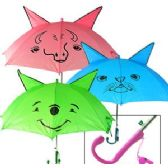 36 Units of KID'S CARTOON UMBRELLAS W/ WHISTLES - Umbrellas & Rain Gear