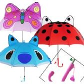 36 Units of KID'S ANIMAL UMBRELLAS W/ WHISTLES - Umbrellas & Rain Gear