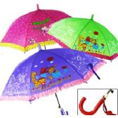 48 Units of KID'S RUFFLED UMBRELLAS - Umbrellas & Rain Gear
