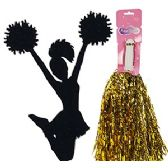 192 Units of METALIC CHEERLEADING POM-POMS - GOLD - Girls Toys