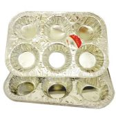 72 Units of Wholesale ALUMNUM MUFFIN TRAY 3OK MUFFIN TRAY - Baking Items