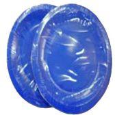 96 Units of Wholesale 12CT 9INCH ROUND DARK BLUE PLATES