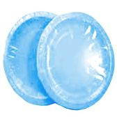 96 Units of Wholesale 12CT 9INCH ROUND LIGHT BLUE PAPER PLATES
