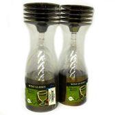 96 Units of Wholesale PLASTIC WINE CUPS SILVER RIM