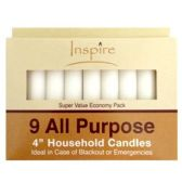 """48 Units of Wholesale 9 PK 4"""" ALL PURPOSE CANDLES - CANDLE SETS"""